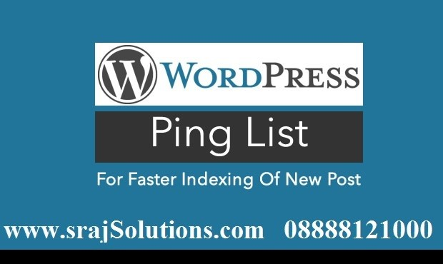 how to add ping list in wordpress